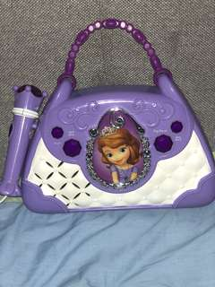 Sofia the first sing-along boom box