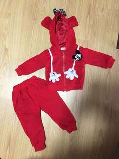 Micky mouse winter jacket and pant set