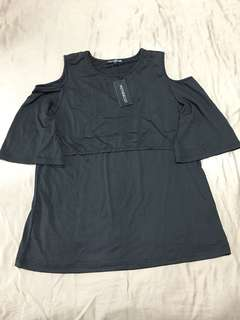 Nursing top - black