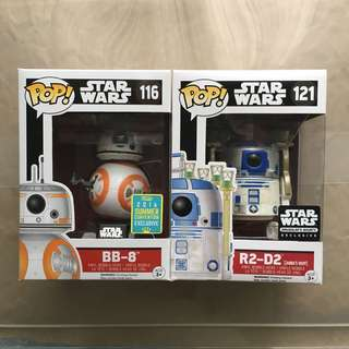 Star Wars Funko Pop! Droids Exclusives set