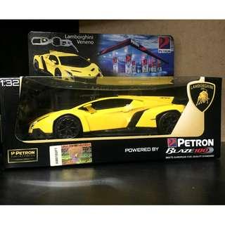 Brand new Petron Cars : Yellow Lamborghini Veneno
