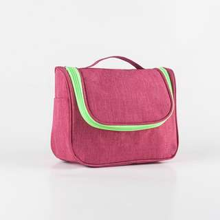 Pink Toiletry Bag Travel Toiletries Makeup Bag Sturdy Hanging Organizer for Women Men
