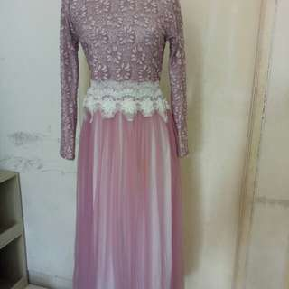 Dress cantik brukat plus tile