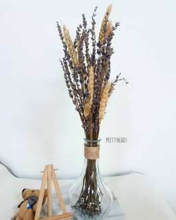 Lavender bouquet (with vase shown)
