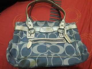 Authentic Coach Bag blue