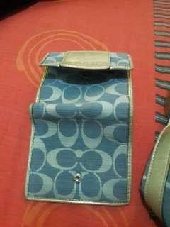 Authentic Coach wallet Blue