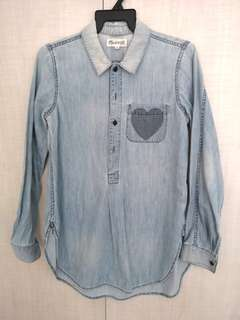 Madewell Chambray Blouse with pocket