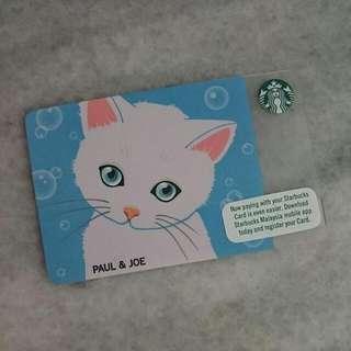 Starbucks Paul & Joe Card 2018