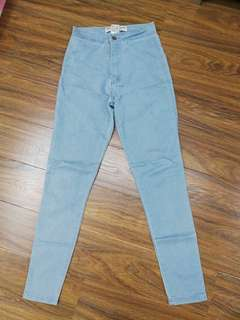 American Apparrel High Waisted Skinny Jeans