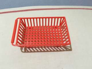Small red tray