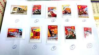 朝鮮郵票,單枚成套,每枚 HKD 5