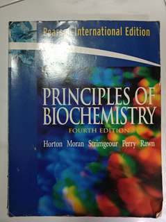 Principles of Biochemistry by Horton, Moran, Scrimgeour, Perry, Rawn (4th edition)