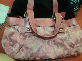Authentic Coach bag pink