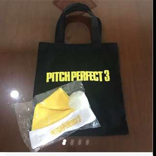 Pitch Perfect 3 Large Tote Bag + Fun Hat from Hollywood (Brand new)