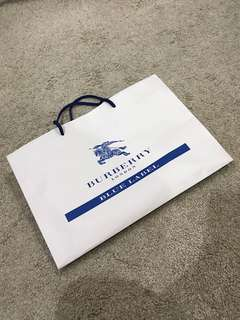 Burberry blue label medium size paperbag