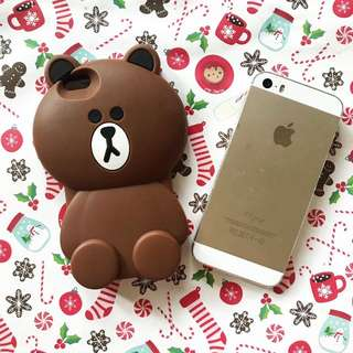 BROWN CASE IPHONE 5S