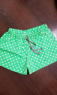 Brand New Green Polka dots shorts