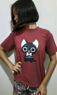 Black Cat Design T-Shirt