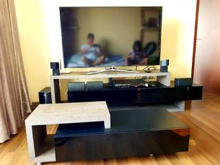 High quality TV Rack & Coffee Table set by Cellini