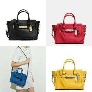 COACH SWAGGER 27 CARRYALL  IN PEBBLE LEATHER