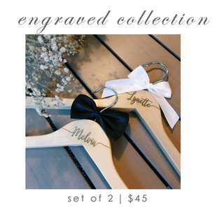 Personalised Wedding Hangers (Engraved)