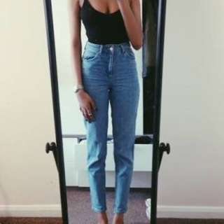 top shop denim mom / mum jeans