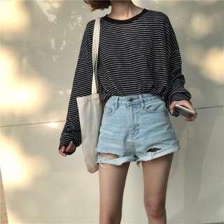 PO Striped Basic Pullover #272
