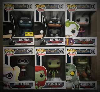 DC Funko Pop! Games - Arkham Asylum set