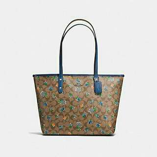 COACH COTY TOTE IN FLORAL LOGO PRINT  COATED CANVAS (F57888)