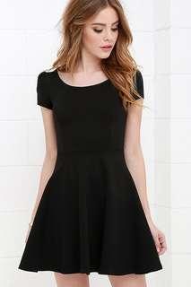 cotton on black dress!!