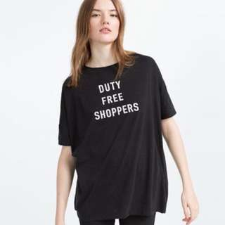 Zara `Duty Free Shoppers' T Shirt