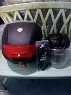 BUNDLE box 30L helmet m-l motor gloves