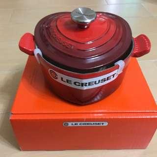 LeCreuset迷你心型鑄鐵鍋16厘米一個