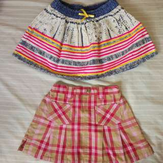 Lot of 2 Branded Skirts 2T