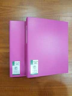 A4 Binder Ring File - Pink & Orange