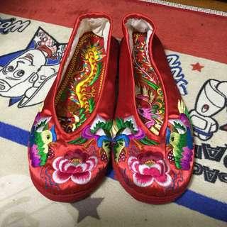 訂造褂鞋連龍鳳鞋墊