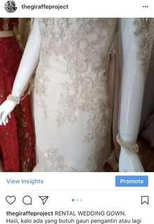 RENTAL Wedding Gown Mermaids by jjkebaya