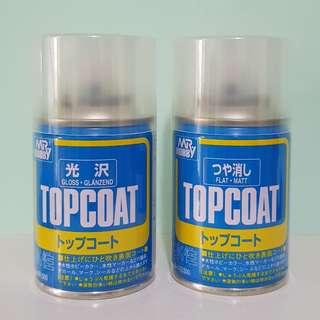 Mr Hobby Topcoat Spray Can Gloss Flat 88ml