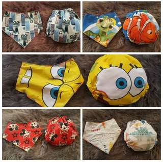 Cloth Diaper free bib terno