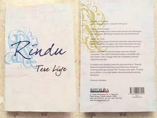 "Novel Tere Liye ""RINDU"""