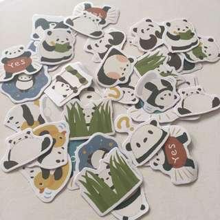 Panda flake stickers