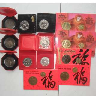 Singapore coin & notes, Lots of 13 items