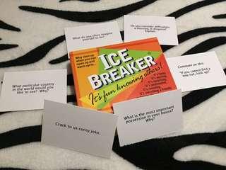 Ice breaker cards