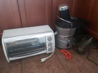 Toaster oven and juicer