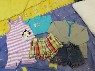 Preloved bundle 1-2 years old clothes