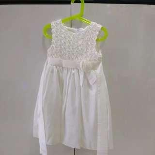 Flower Girl Dress White (Age 4/ Length 68cm)