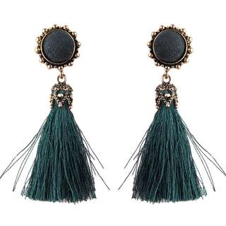 [A70] Bohemian Tassel Dangle Statement Earrings