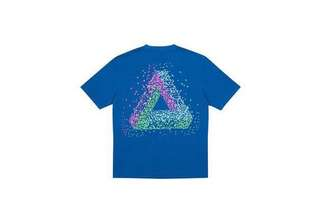Authentic Palace Skateboards Tri-Flect Tee Blue
