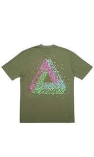 Authentic Palace Skateboards Tri-Flect Tee Army Green