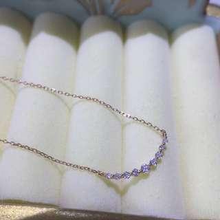 18K玫瑰金10分微笑鑽石頸鏈